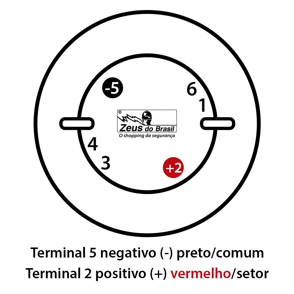 Esquema de ligação detector nas centrais convencionais