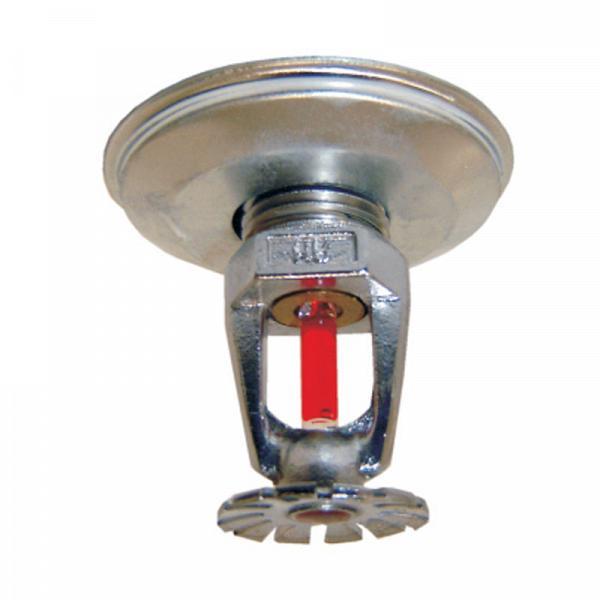 Sprinkler pendente COM canópla 68º 1/2'' cromado (vermelho)