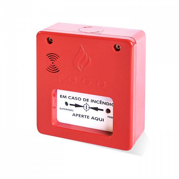 Acionador com sirene 2 LEDs convencional 24V Tecnohold