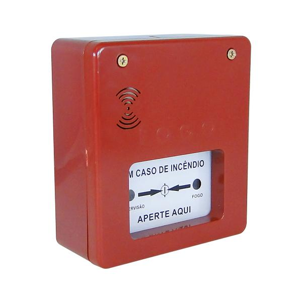Acionador manual com sirene para alarme de incêndio endereçável