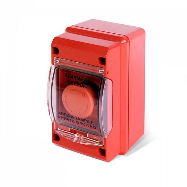 Acionador manual para alarme de incêndio convencional IP-55 Tecnohold