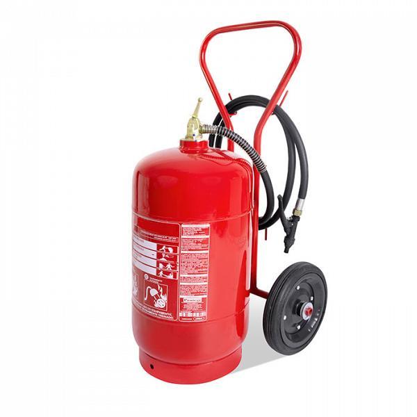 Carreta extintor pó 50kg pressurizado
