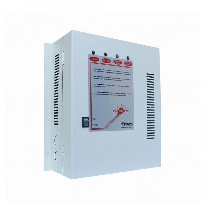 Central iluminação emergência sem bateria 24v