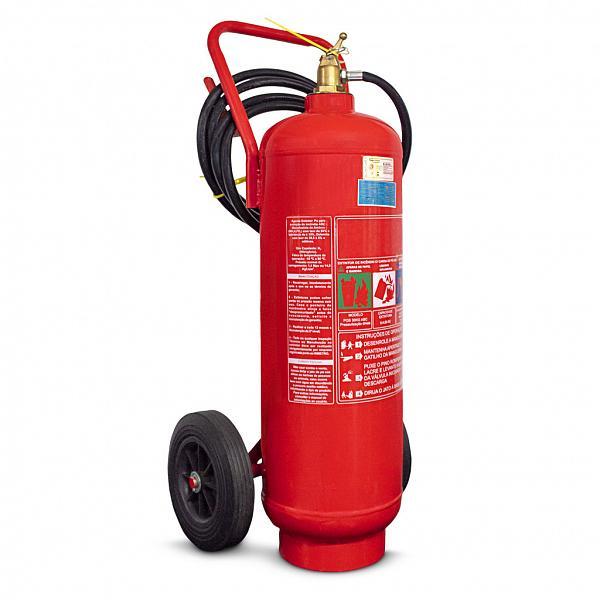 Extintor carreta pó PQS 30KG ABC pressurizado CE 6A 80BC
