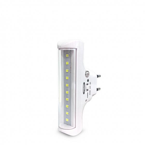 Iluminação de emergência 60 lumens com fotocélula