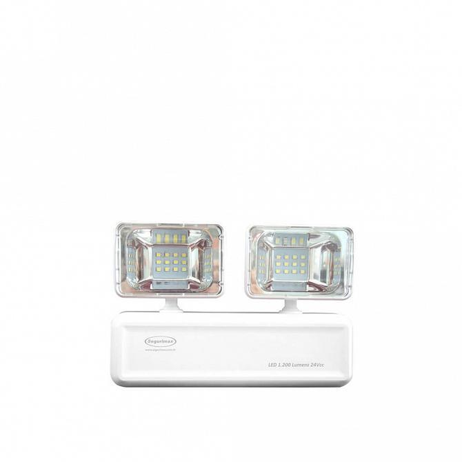 Iluminação de emergência autônoma LED 2 faróis 1200 lúmens