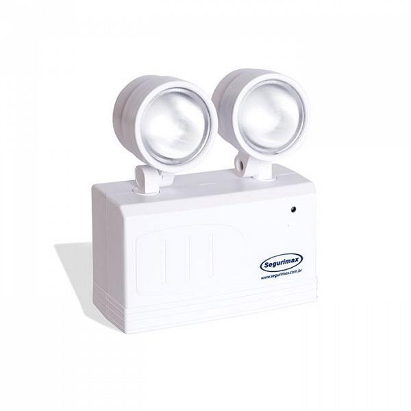 Iluminação de emergência LED 200 lúmens com bateria gel selada Segurimax
