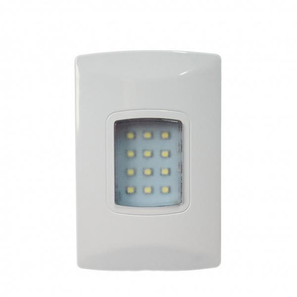 Iluminação emergência autônoma LED 100 lúmens embutir