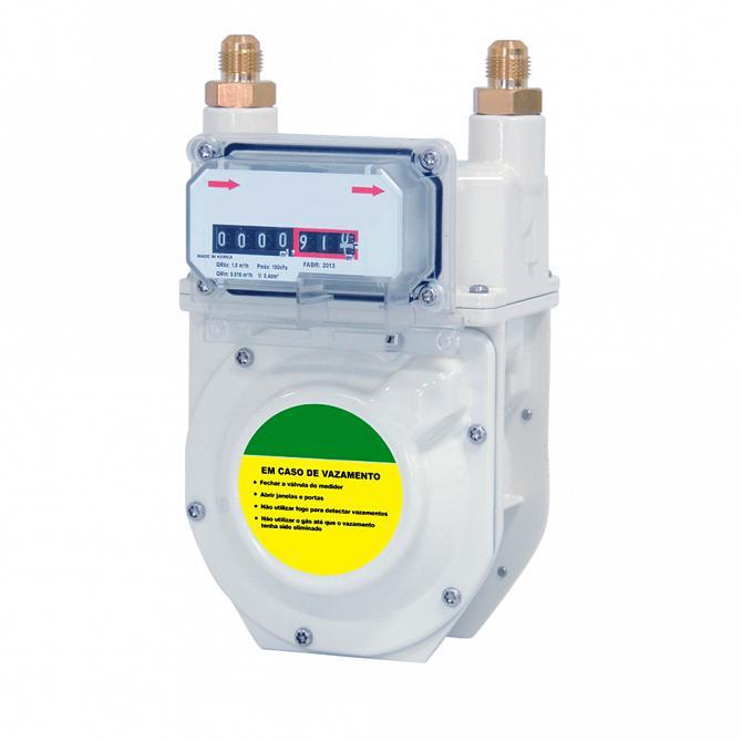 Medidor de gás modelo G 0.6 (D)