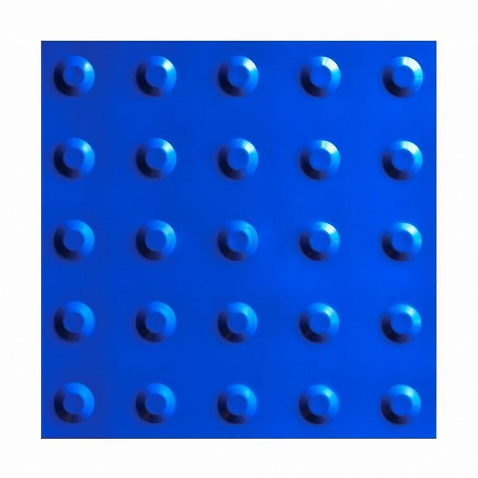 Piso tátil alerta azul 25 x 25cm