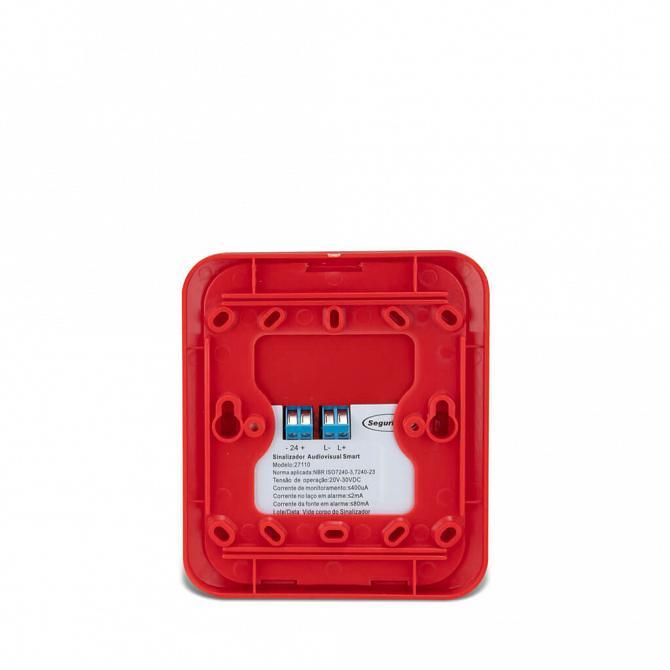 Sinalizador audiovisual IP55 24v endereçável