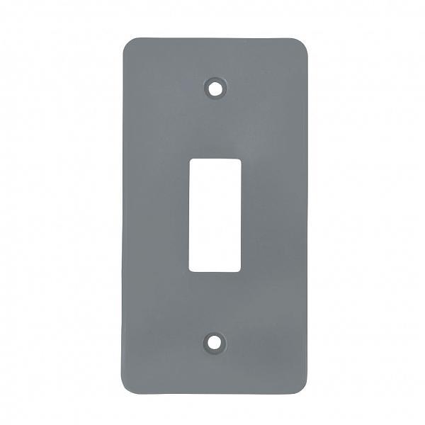 Tampa 1 tecla PVC cinza para caixa 5 entrada 1/2
