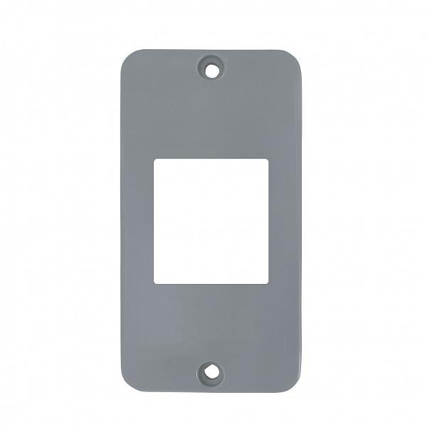Tampa 2 teclas PVC cinza para caixa 5 entrada 1/2'' - 3/4'' - Zeus do Brasil