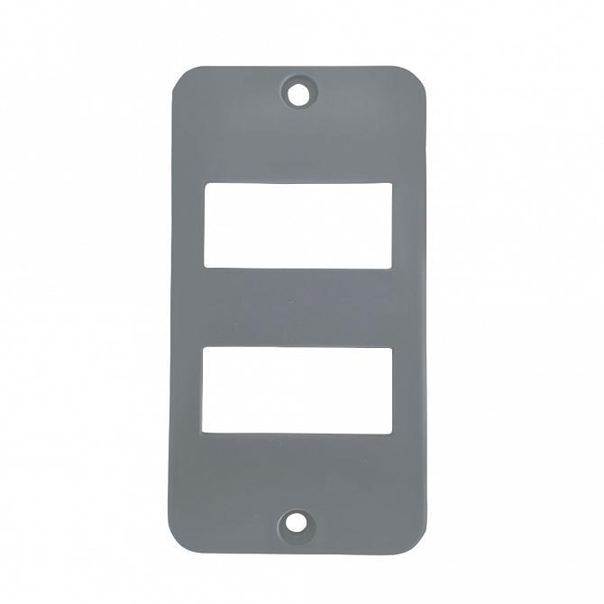 Tampa 2 teclas separadas PVC cinza para caixa 5 entradas 1''