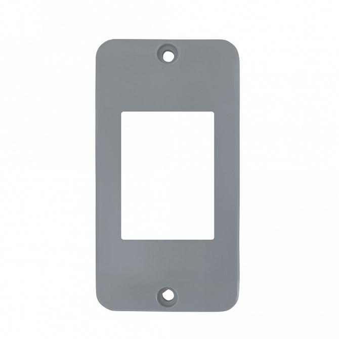 Tampa 3 teclas PVC cinza para caixa 5 entradas 1/2